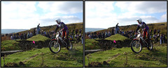 3D Motorbike Trial 6 (SteveMG) Tags: 3d action motorbike stereo stereoview hillside smg trials trial