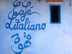 Just Blue (Kiky01) Tags: africa street trip blue windows friends holiday colour building coffee caf wall writing canon amazing raw geometry blu decoration morocco marocco medina chaouen chefchaouen moroccan italians rif italiano cultur bluecolour italianflickrworld llovemypic