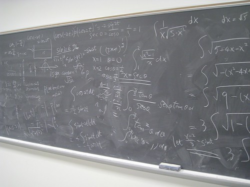 After teaching... (Leya :P) Tags: chalk board math calculus chalkboard