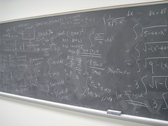 After teaching... (Leya :P) Tags: chalk board math calculus chalkboard