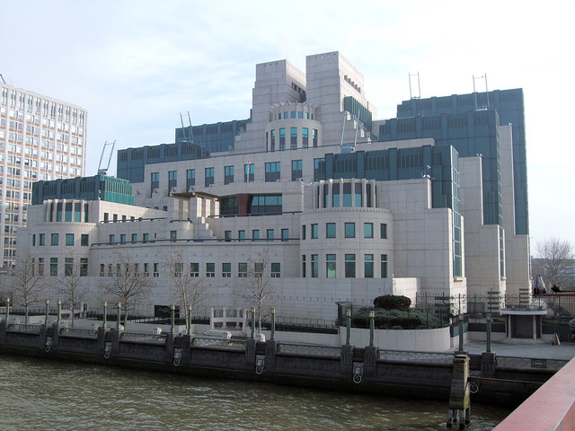 The MI6 Building, Vauxhall, London.