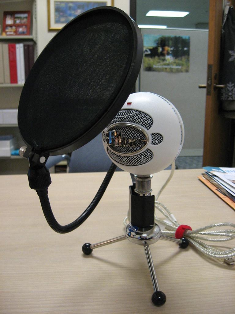 Blue Snowball mic & pop filter