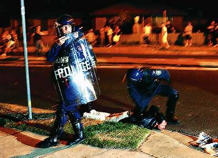arrest at Macquarie Fields Riots