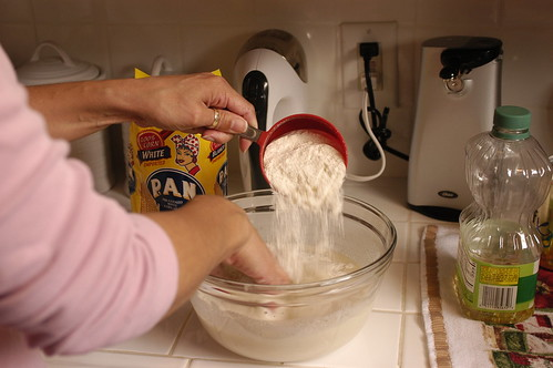 arepas - making the dough