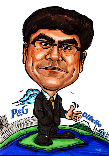 Caricature P&G Gillette