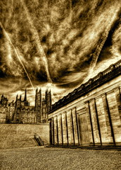 General Assembly Hall from the National Gallery - sepia (elementalPaul) Tags: sky sepia scotland edinburgh pentax tripod mound hdr nationalgalleryofscotland themound churchofscotland photomatixpro generalassemblyhall 5xp  k10d pentaxk10d generalassemblyhallofthechurchofscotland