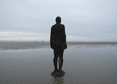 Crosby Man 02 (Bats 189) Tags: sea sky beach water liverpool crosby anthonygormley
