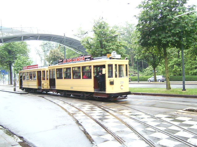 Heritage tram run in Brussels