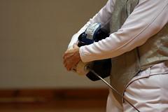 Fencer, waiting (primeparry) Tags: sport foil creativecommons fencing athlete 70200mm fencer ef70200mmf4lisusm eos40d