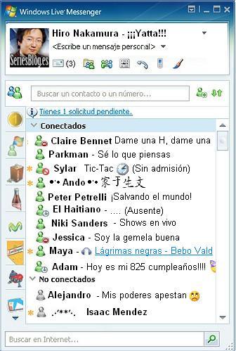 MSN messenger de Hiro Nakamura