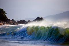 Water Wall (Bracus Triticum) Tags: park sea beach water japan nationalpark wave 日本 fukuoka kyushu 九州 福岡 seaofjapan kengai 5photsaday kengainationalpark
