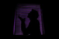 Illusion (fred.sommer11) Tags: art violet pink silhouette sitting lookingup pray praying dark light behind boy man night black contrast kneeling shadow shape hope hoping friendlychallenges portrait
