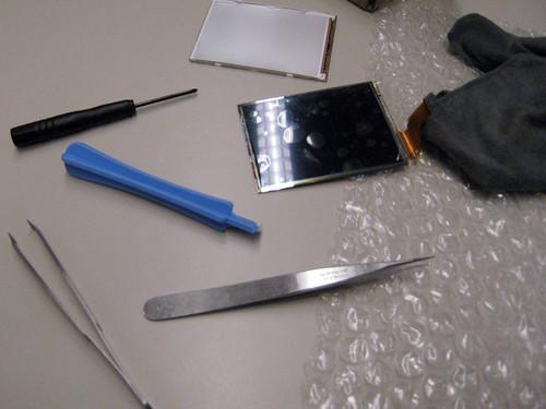 Replacing camera LCD