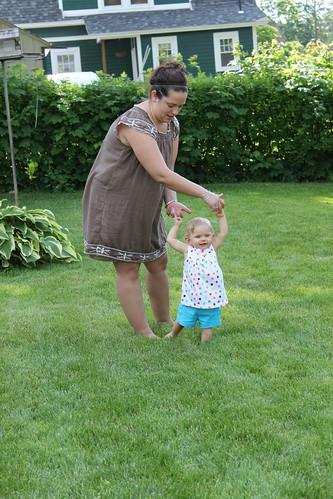 Ladybug & Auntie Sarah Practice Walking
