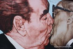 The Kiss (axshuzaifa) Tags: travel people urban streetart cold berlin love wall germany painting graffiti mural kiss war europe east communism berlinwall ddr duitsland mauer deadly eastsidegallery ironcurtain deutchland berlijn brd leonidbrezhnev erichhonecker mauerbau frg