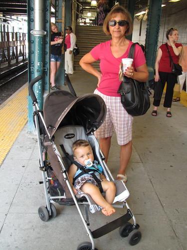 Waiting at the subway