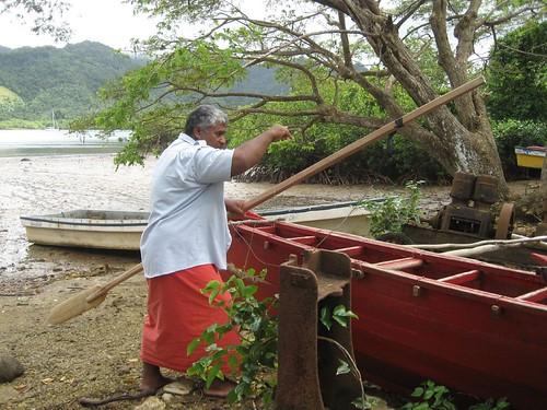 sailing canoe demo