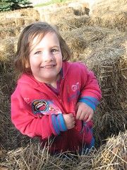 Allysa in the hay maze