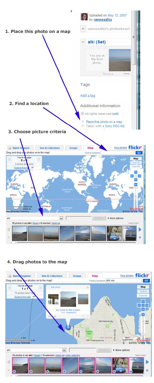 Geotagging in Flickr