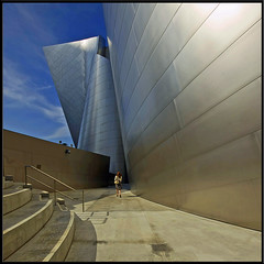 INto... (Julian E...) Tags: she urban woman architecture composition design losangeles bravo downtown path gehry proportion frankgehry ~ disneyconcerthall splendiferous magicdonkey spselection abigfave impressedbeauty superbmasterpiece infinestyle diamondclassphotographer megashot thegoldendreams doubledonkeyd