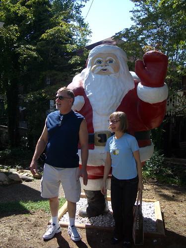 santa, dad, and me.