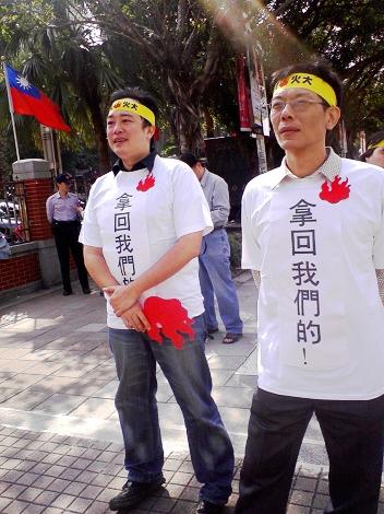 柯逸民(右)、王醒之(左),分別投入明年一月北市內湖‧南港以及基隆市兩個選區的選戰。