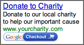 Checkout for Non-Profits AdWords Badge