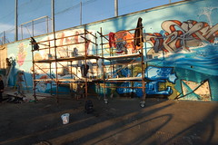 Total Coverage @ Piscina Lido 11/11/2007. (Kollaps) Tags: streetart night graffiti spider cowboy wideangle kong writers take wat 1020 korn piove galo bans paok ninja1 ludy reser rems mr sirtwo pixelpancho totalcoverage 69s topoftorino mach505 mauro149 fjodor