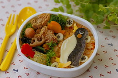 penguin bento (luckysundae) Tags: