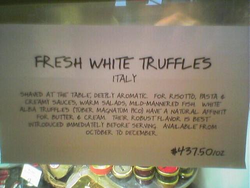 White Truffles - $437.50 per ounce