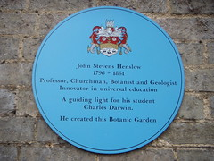 Photo of John Stevens Henslow blue plaque