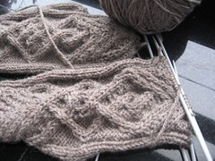 Mitts - nearly half done