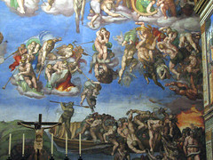 Sistine Chapel - The Last Judgment - The Damned (*Checco*) Tags: italy vatican rome roma museum last painting italia chapel vaticano museo michelangelo fresco judgment damned sistinechapel cappella sistine vaticancity affresco frescoes museivaticani sistina cappellasistina holysee dipinto universale giudizio vaticanmuseums cittdelvaticano giudiziouniversale dannati santasede thelastjudgment