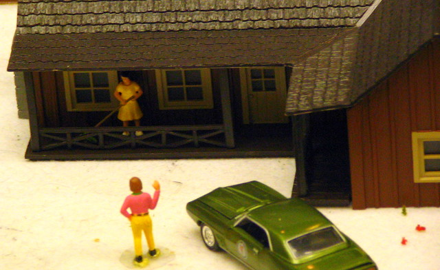Model Train Display #8:  Sorry, Honey.  I can explain!