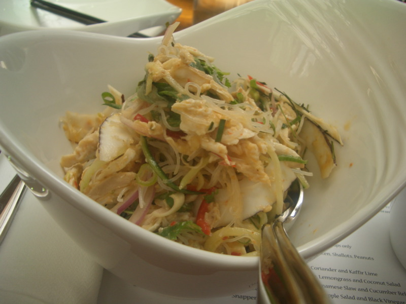 Shredded Chicken, Mint, Bean Noodle, Lemongrass and Coconut Salad