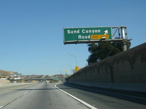 Ca 14 Antelope Valley Freeway Northbound In Santa Clarita At Sand Canyon Rd