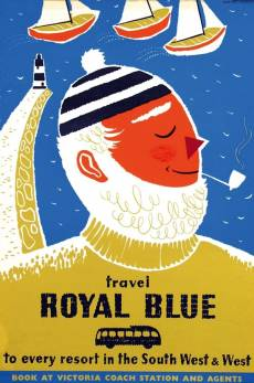 Royal Blue to the South West and West Vintage Travel Poster
