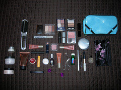 What's in my makeup bag, you ask? (the catalyst...) Tags: urban brown bag bed mac junk decay packing makeup stuff whatsinyourbag etsy cosmetics whatsinmybag loreal lancome smashbox eaby