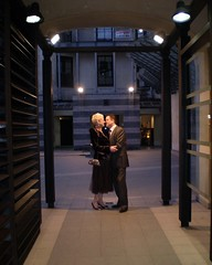 wedding kisses (mndhemphill) Tags: city wedding friends brown night couple pretty day time glasgow kisses blond marco fi lovely merchant outfits