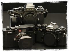 Black Beauty (Sugoi L) Tags: slr nikon filmcamera nikonf3hp cameraportrait nikonfe2 cameragear nikonslr f3hp md4 rangefindercamera leicam8 digitalrangefinder nikonsfan f3motordrive