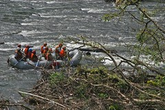 rafting (dying regime) Tags: people orange lake fall leaves river rapids lanka rafting raft srilanka jackets hortonplains nuweraliya