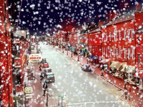 Snowy Day Downtown Newburyport