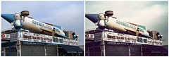 Astroland @ Coney Island - before and after ([ Petrice ]) Tags: photoshop coneyisland action d100 polarbearswim astroland fallout75 vintagefilmaction