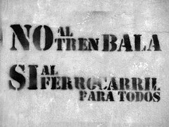 No al tren bala - No to the bullet train