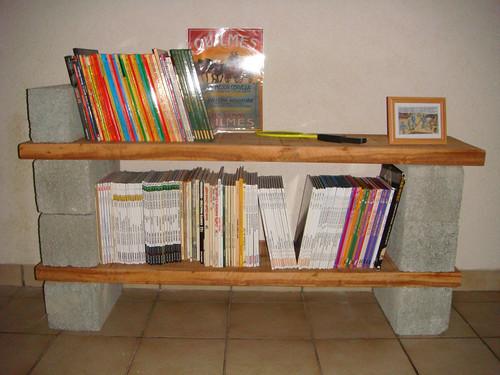 Se faire une petite biblioth que sans trop de peine - Faire une etagere avec des planches ...