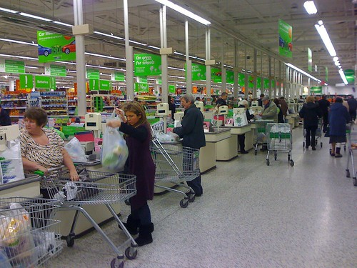 Asda checkout in the Old Roan store - Taken With An iPhone