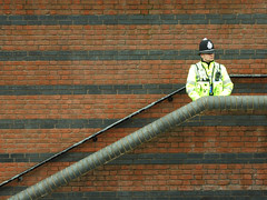 Government Security (Sparks68) Tags: yellow wall canal birmingham bricks police security copper lonely solitary i500 interestingness184 abigfave onephotoweeklycontest msh1010 bigpicture2008 msh0308 msh030813 msh101014