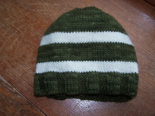 FInished Green/White Hat