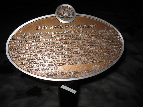 Lucy Maud Montgomery Plaque