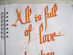 All is full of love (Marina Chaccur) Tags: contrast gothic calligraphy caligrafia gtica swashes